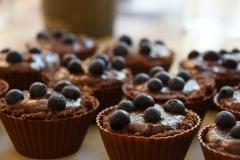 Bananen-Heidelbeer Muffins